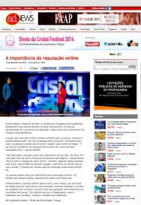 Article in AdNews.com.br about a CoolBrands presentation in Courchevel