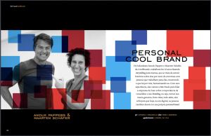 Maarten and Anouk from CoolBrands in TOP Magazine
