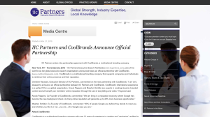Partnership CoolBrands and IIC Partners
